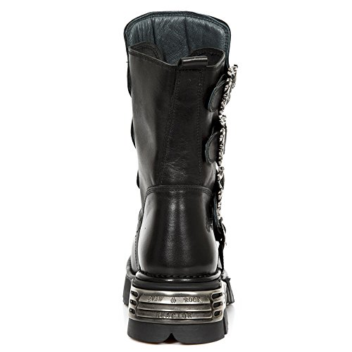 New Rock Mens M.391X-S1 Leather Boots negro