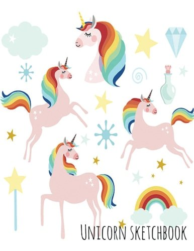 Unicorn Sketchbook - Pink Unicorn Rainbow Princess: 8.5' X 11', Personalized Sketchbook, 100 pages, Durable soft cover, Drawing notebook (Magical Unicorn)