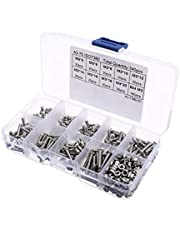 340pcs/lot M3 Stainless Hex Socket Button Head Screws Bolt Nut Assortment Kit Hardware Fasteners Nut Bolt Sets