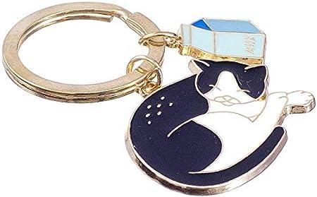 Nanomondo Schlüsselanhänger Schlafende Katze Aus Metall N1088 Koffer Rucksäcke Taschen