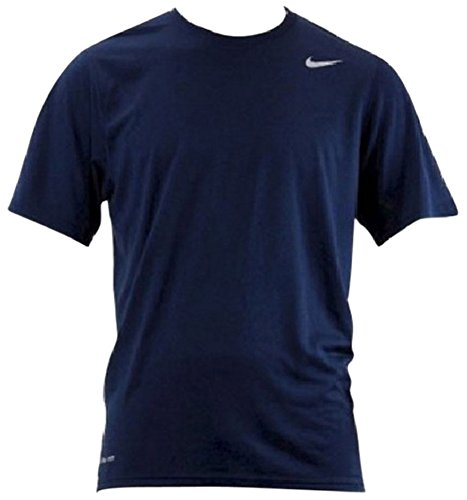 Nike+Mens+Athletic+Active+Dri-Fit+Tee+Shirt%2C+Navy+Blue%2C+M