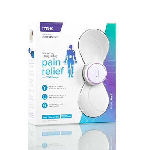 iTENS Electrotherapy Wireless Tens Unit- LARGE WHITE - Smart Phone Tens Machine for Pain Relief, Back Pain and Rehabilitation - Bluetooth App-Controlled - Fully Customized Settings of Pain Therapy by iTENS