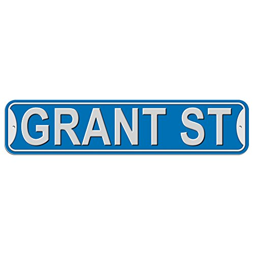 Grant St Street Sign - Plastic Wall Door Street Road Male Name - Blue