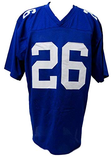 low priced 696dc 5f118 Saquon Barkley New York Giants Autographed/Signed Blue ...