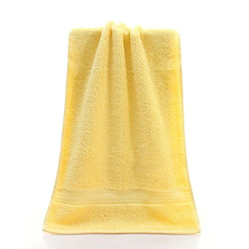 Mr.Macy Bath Towels,Quick Dry-Absorbent-Soft Beach Towel,3474cm Soft Cotton Face Flower Towel Bamboo Fiber Quick Dry Towels (Yellow)