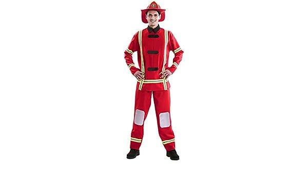 EUROCARNAVALES Disfraz de Bombero para Hombre: Amazon.es: Juguetes ...
