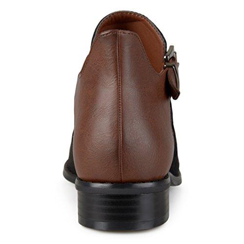 Collezione Day Bag Stivaletti Tacco Con Zip Laterali Donna Neri