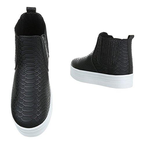 plisadas Design negro Ital Botas Mujer qaCAwY