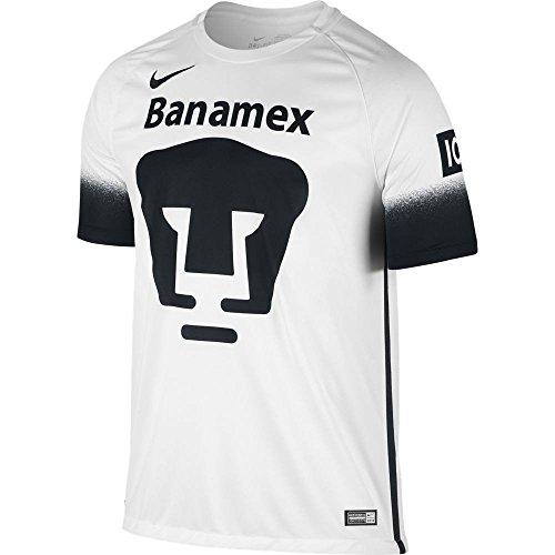 Black Stadium Football Jersey (Nike mens PUMAS SS DECEPT STADIUM Jersey 709530-106_XL - FOOTBALL WHITE/BLACK/BLACK)