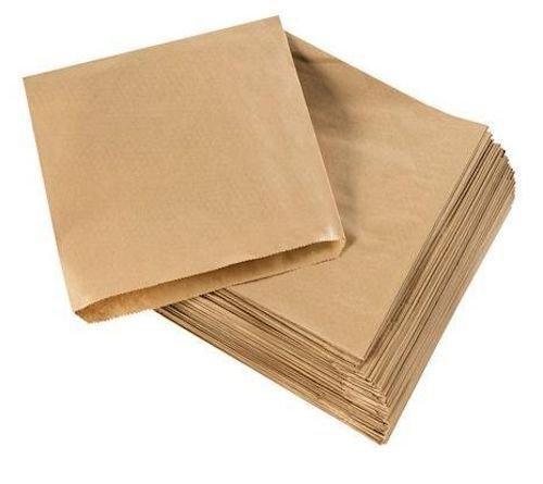 200bolsas para alimentos de papel kraft, 20 x 20 cm, color marrón, 8.5 x 8.5 inch color marrón Cosmall
