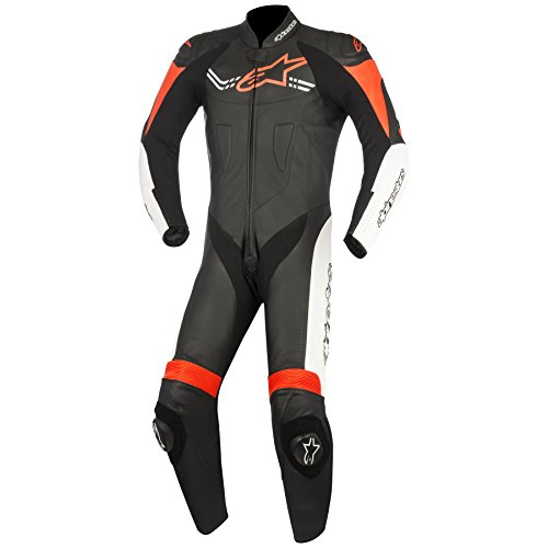Alpinestars Challenger 1pc Leather Race Suit Black/White/Red 52 (More Size Options) by Alpinestars