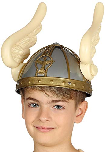 Girls Boys Winged Viking Hat Helmet World Book Day Halloween Fancy Dress Costume Outfit Accessory]()