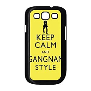 Keep Calm and Gangnam Style PSY Samsung Galaxy S3 9300 Cell Phone Case Black Exquisite gift (SA_624575)