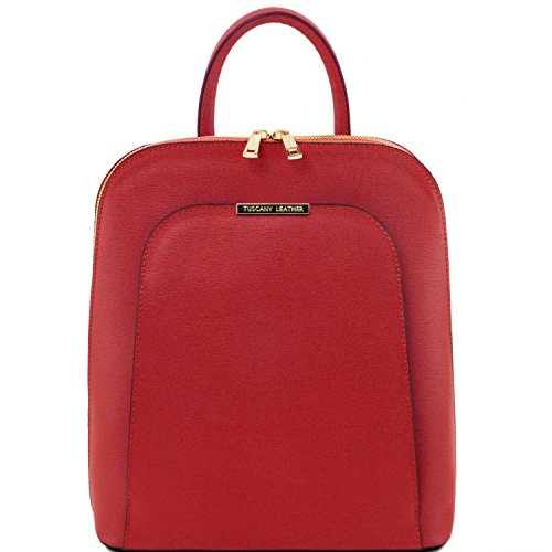 Tuscany Leather TL Bag - Zaino donna in pelle Saffiano - TL141631 (Rosso) Rosso