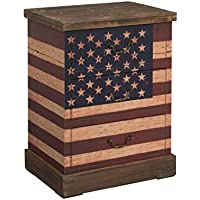 Treasure Trove Accents Old Glory Rustic Three Drawer Chest, 26-Inch