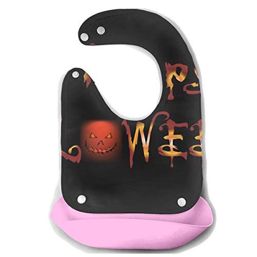 Lomati Waterproof Baby Super Bib Feeding Roll-up Bibs Halloween Word Light Night Silicone Bib for Babies&Toddlers ()
