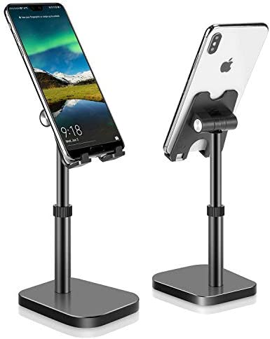 Cell Phone Stand, Phone Stand for Desk Height Adjustable, Phone Holder for Desk Compatible with All Mobile Phones,iPad
