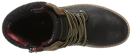 TOM TAILOR Damen 3792004 Stiefel Schwarz (Black)