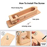 360° Rotation Wood Sewing Pony Horse Leather Craft Table Lacing Desktop for DIY Hand Stitching Leathercraft Tools