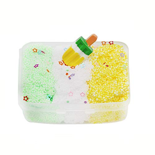 AMOFINY Baby Toys Three Color Milk Scented Ice Cream Shape Slime Mud Decompression Toy
