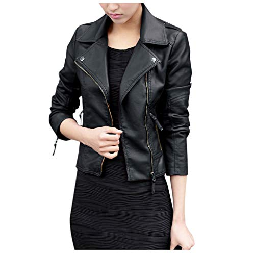 haoricu Ladies Up Leather Outwear Women