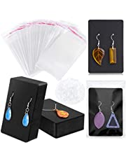 Earring Holder Cards, Necklace Display Cards with 120pcs Bags, Earring Display Cards Kraft Paper Tags for Ear Studs
