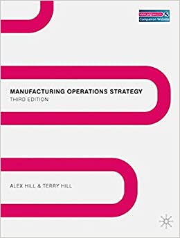 Manufacturing Operations Strategy: Texts and Cases