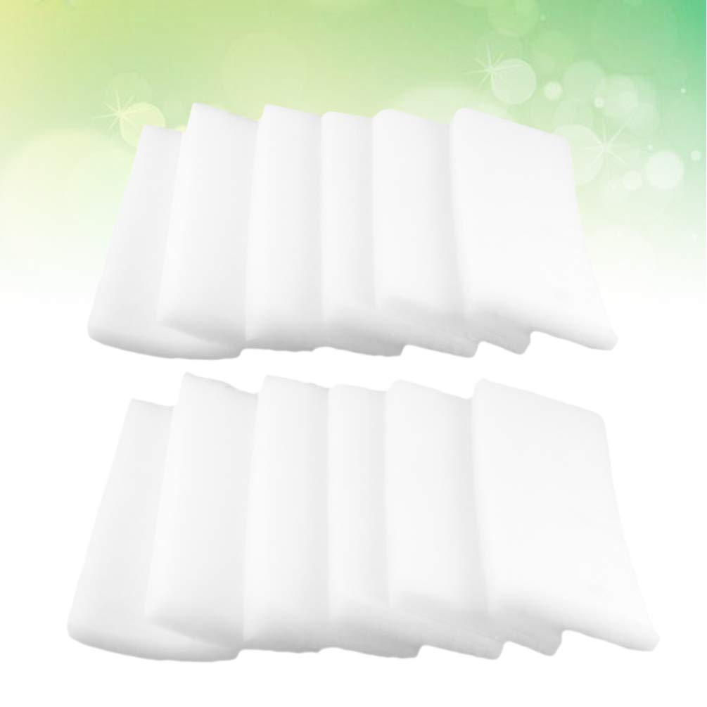 Balacoo almohadilla de filtro de acuario filtro de algod/ón espuma permeabilidad al agua pecera esponja para agua clara 12 piezas