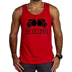 Men's Boxing Gloves V434 Tee Red Tank Top 3X-Large Red