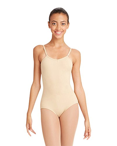 Capezio Women's Camisole Leotard With Adjustable (Nude Colored Leotard)