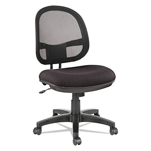 Alera ALEIN4814 Interval Series Swivel/Tilt Mesh Chair, Black