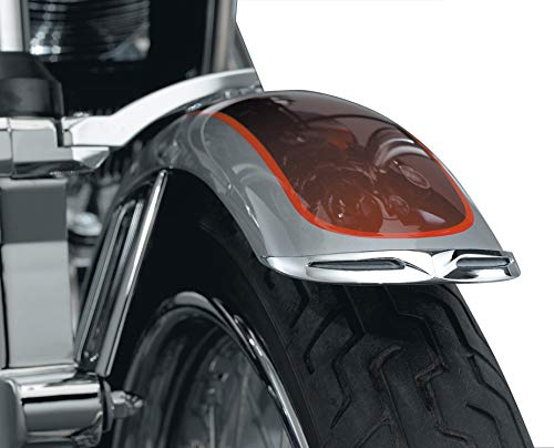 Kuryakyn 9012 Motorcycle Accent Accessory: Leading Edge Narrow Front Fender Tip for Harley-Davidson Motorcycles, Chrome