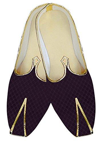 INMONARCH Hombres Morado Vino Especial Zapatos de Boda MJ015157