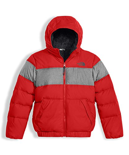 The North Face Big Boys' Moondoggy 2.0 Down Hoodie - tnf red, l/14-16 by The North Face