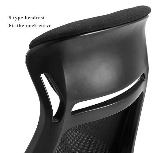Kontorsstol, hög rygg stort säte och ergonomisk svängbar stol liggande datorskrivbord stol andningsbar nät R08