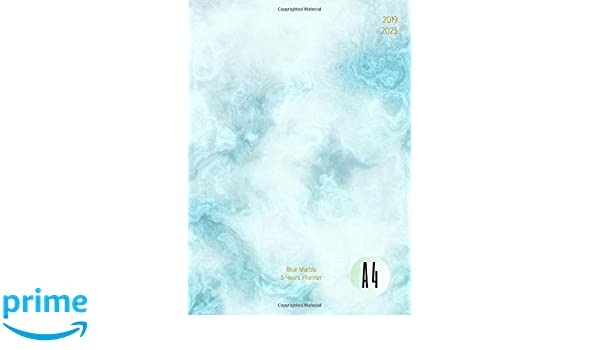 2019-2023 Five Year Planner A4 Blue Marble Goals Monthly ...