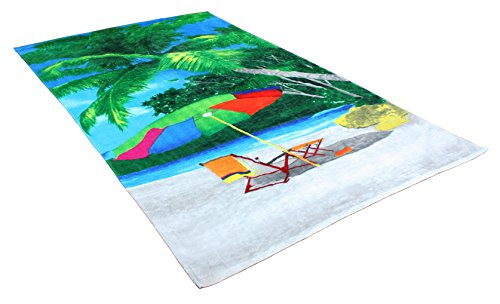 Oversized Extra-Large Terry Cotton Beach Towe, 40x70
