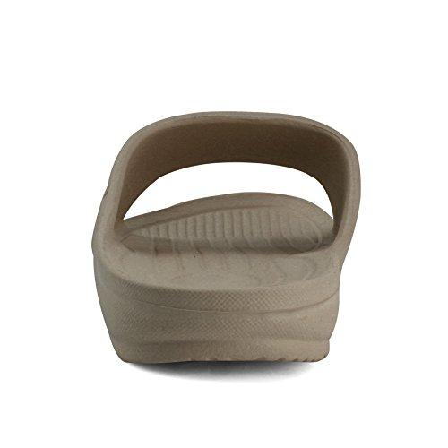 Antiscivolo Da Bagno Per Donne E Uomini Di Razza Equick Premium Per Sandalo Casa Indoor 02brown