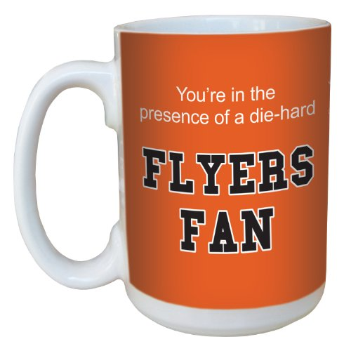 Tree-Free Greetings lm44189 Flyers Hockey Fan Ceramic Mug with Full-Sized Handle, 15-Ounce
