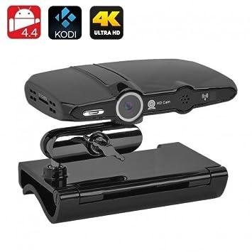 Caja Android TV + cámara - 2MP Cmaera, soporte de 4 K, resoluciones de 1080p, Kodi 16.1, Quad Core CPU: Amazon.es: Electrónica