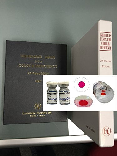 Ishihara Book + 2 Chromagen Lenses for Color Deficiency
