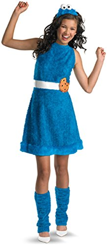 41SZRD5Q LL - Sesame Street Cookie Monster Teen Girls Costume, X-Large/14-16