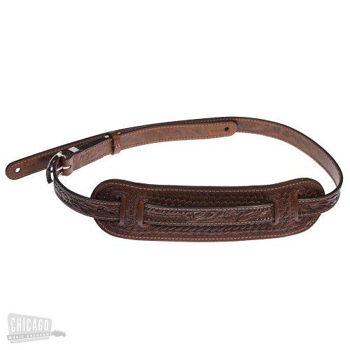 (El Dorado Vintage Hand-Tooled Leather Strap - Brown Acorn &)