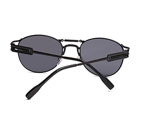 retro y sol de personalidad vintage gris de polarizadas Gafas masculinas no Negro Gafas punkyes femeninas cTHYwRPq
