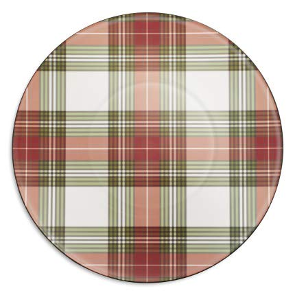 Sur La Table Tartan Holiday Chargers, Set of 4
