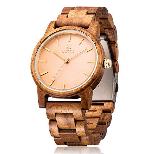 Men's Wooden Watch,BIOSTON Handmade, Unique &Vintage and Natural &Stylish,Best Gift for YourselfFatherHusbandMenWomenSon