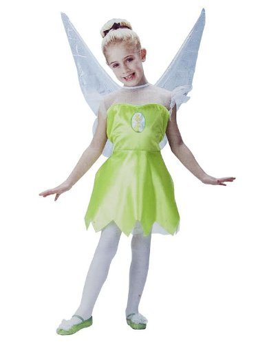 [Disney Fairies Tinkerbell Girls Costume Size S (4-6X)] (Tinkerbell Fairy Costumes For Women)
