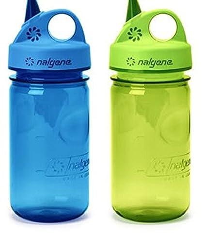 Nalgene Everyday Grip-N-Gulp Water Bottle for Kids Blue / Green Set - Nalgene Grip N-gulp