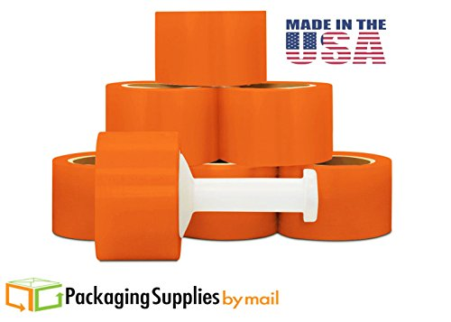 180 Rolls Narrow Banding Orange Color Hand Wrap 3'' x 1000' x 80 ga by PackagingSuppliesByMail