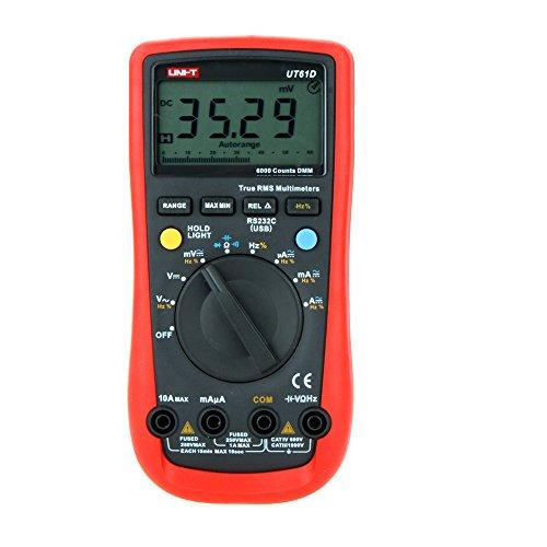 - UNI-T UT61D Modern True RMS 6000 Counts Auto Range LCD Backlight DMM Digital Multimeters Multimetro Ammeter Multitester